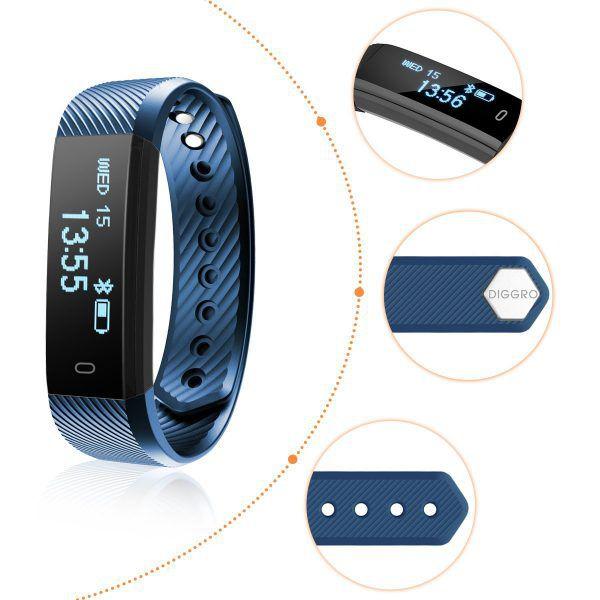 bracelet connecté Diggro ID115HR